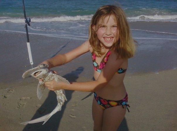 She caught a shark!
