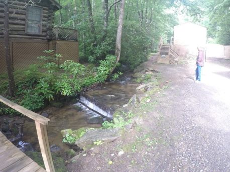stream from 200ft waterfall