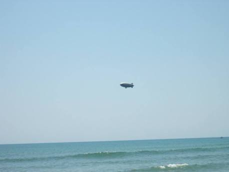 the goodyear blimp came to see us off
