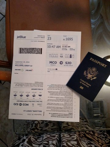2 passport & boarding pass